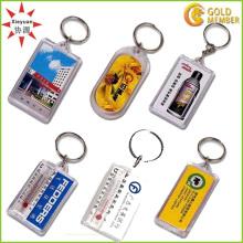 Billiger kundenspezifischer Plastik-Arylisch Schlüsselhalter