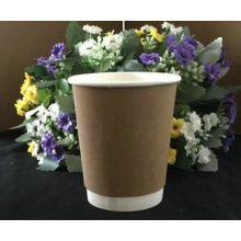 Barato Kraft Logo impresso papel descartável copos de café