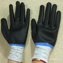 NMSAFETY nitrile entièrement enduit antidérapant et gants résistants aux coupures