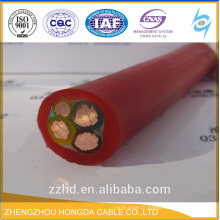 H07RN-F Câble / Conducteur flexible en cuivre torsadé + isolant en caoutchouc + veste en néoprène