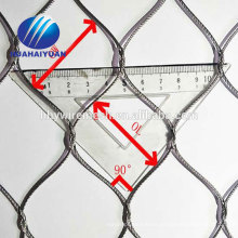 decorate wire rope netting stainless steel wire rope mesh zoo netting zoo mesh