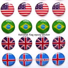 Национальный флаг стикер эпоксидной смолы,стикер смолаы,стикер купола в качестве подарка для национальный день