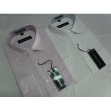 Venta caliente 100% algodón manga larga mandarina camisas de vestir no hierro FYST01 / 04-L