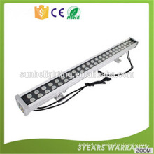 LED de iluminación lineal fixture12w DMX RGB de fundición a troquel de aluminio llevado luz de la arandela de la pared para el proyecto