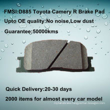 D885 toyota highlander rear car brake pad