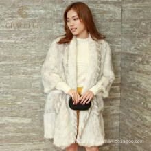 stylish women knitted long mink coat wholesale for ladies
