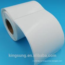 fabricante de etiquetas autoadhesivo del papel semi lustroso del precio de fábrica