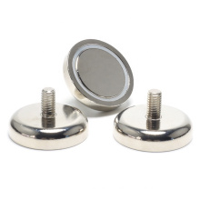 Holding Power Rubber Cover Neodymium Holding pot Magnet with Male Threaded Stud