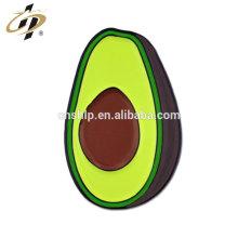 Pintura personalizada esmalte metal fruta Avocado Solapel Pin