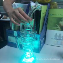 Erstaunliche Großhandelsfabrik-Tabak LED-Glas Shisha-Huka