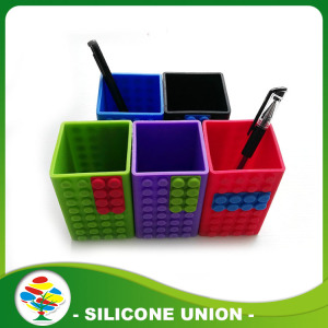 Promotion Gift Desk Silicone Rubber Pen Container