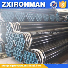 "black seamless steel pipe DIN1629 ST52 6"" SCH40 price each ton is USD710/MT"