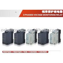 Relé do motor de tensão de 3 fases, controlador de monitoramento