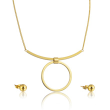 14k золото покрыло уникальный большой Кулон ожерелье Хооп серьги Оптовая комплект ювелирных изделий