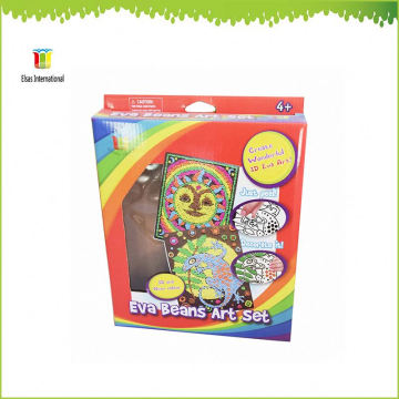 kids DIY painting craft and gift ,Wholesale EVA beans Kids Craft Kits set