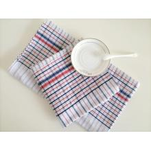 Hotel Use Red and Blue Check Tea Towel