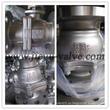 Válvula de bola flotante de acero inoxidable con brida industrial de gas