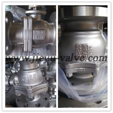 Gás Industrial Flangeado Válvula de esfera flutuante de aço inoxidável