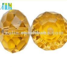 Nuevo encanto suelto 6MM facetado Rondlle cuentas de cristal de cristal 5040 #