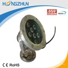 O alumínio + o rgb 9w do aço inoxidável conduziram a eficiência do preço baixo da lâmpada do projetor com prova elevada