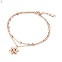 Dubai Nueva Moda Fancy Design Women Gold Bracelet, Hand Chain Girl Bangle Jewelry Lady Rose Gold Bracelet