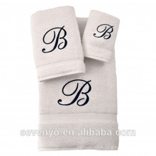 100% Turkish Cotton Jacquard Towel set with logo, Multi color selection HTS-136 wholesale