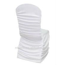 usine de couverture de chaise universelle, CTS790, style plissé, 200GSM meilleur tissu lycra