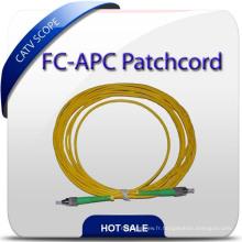 Cordon de correction de fibre de connecteur FC / APC de haute qualité