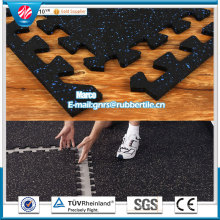 Indoor Rubber Tile Square Rubber Tile Colorful Rubber Paver Rubber Flooring Tiles