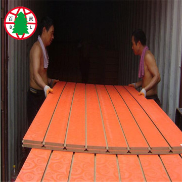18 mm slot mdf grooved mdf panel