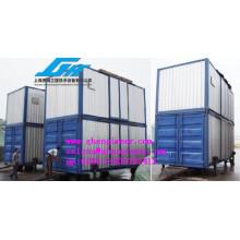 Unidade de pesagem e ensacamento em contentores móveis PARA PORT