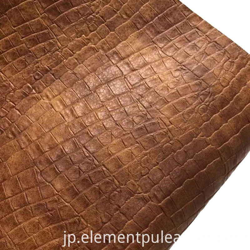 Semi PU Embossed Leather