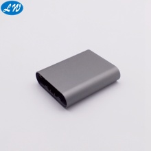 Rechargeable anodized aluminum alloy cigarette case