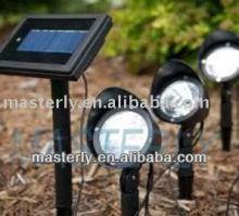 Solar Garden led Lighting ABS Plastic Case Lithium Ion battery