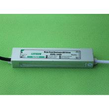12V 20W IP67 CE impermeável do diodo emissor de luz Driver do diodo emissor de luz
