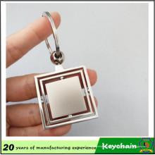 Chaveiro de folha de Metal barato logotipo personalizado em branco