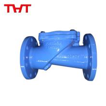 Válvula de retención de disco oscilante de hierro dúctil vertical con contrapeso