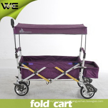 Outdoor Portable Folding Utility Luggage Cart with Canopy Cover