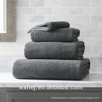Китая оптом 600 грамм 100% хлопок 4 шт серый полотенце