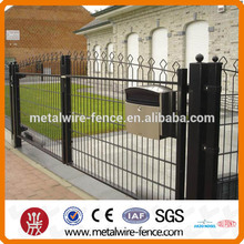 Arch top double wire fencing