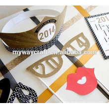 fancy design 2015 various shapes die cut paper cupcake topper sprinkled with glitter powder
