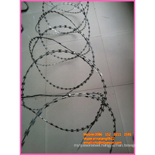 BT0 22 security cross type razor wire mesh barbed airport fence