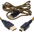 1.5M 24K Precious gold Metal Charger Charging Cable Cord Micro USB 2.0 Data Cable for Nintendo NDSI/NDSIXL/2DS/3DS/NEW 3DS/3DSXL