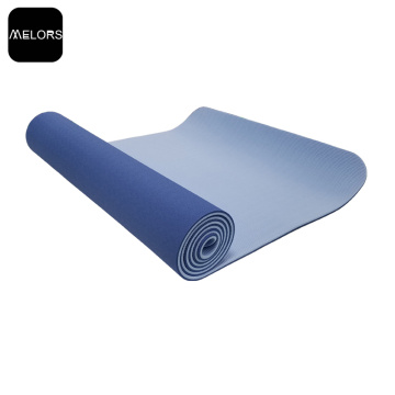 Logotipo personalizado Eco-friendly Duplo Cor TPE Yoga Mat