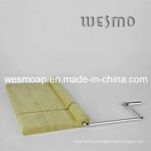 Placa de corte do queijo de bambu (WTB0314A)