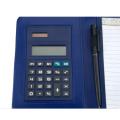 Pocket notebook calculator with pen
