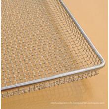 en acier inoxydable serti le four maille de pain de pain de pain faisant cuire le plateau en tant que déshydrateur