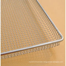 stainless steel crimped wire oven mesh bun baking serving tray as dehydrator