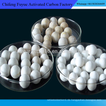 Heißer verkauf Aktiviert aluminiumoxid ball für adsorbens, defluorinating, H2O2