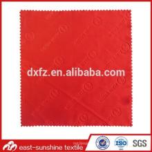 Tissu à lentille microfibre avec logo en relief à pleine échelle; Tissu de nettoyage en microfibre estampé à chaud pour lunettes de soleil